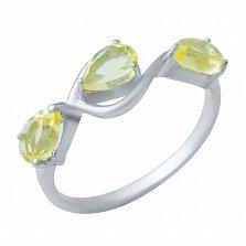 Серебряное кольцо Милада с цитрином