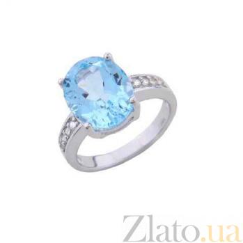 Кольцо серебряное с голубым топазом Милиани AQA--R01720T