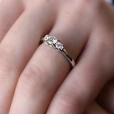 Кольцо из белого золота Торина с бриллиантами
