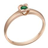 Кольцо в красном золоте Желание сердца с изумрудом