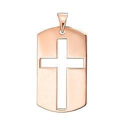Подвеска из красного золота с крестом 000137727