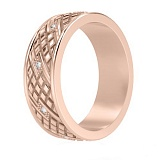 Мужское обручальное кольцо с бриллиантами Благословение небес: Сияние души