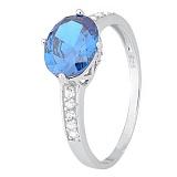Кольцо из серебра Джильда с голубым цирконием