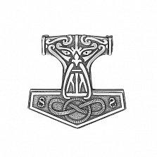 Серебряный подвес-оберег Молот Перуна