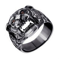 Серебряное кольцо с коньячными фианитами 000087642