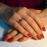 Кольцо из красного золота Мирах с сапфиром и бриллиантами