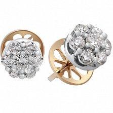 Серьги-пуссеты с бриллиантами Семь желаний
