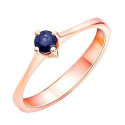 Кольцо из красного золота с сапфиром 000125510