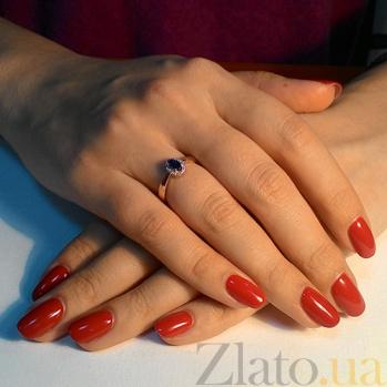 Кольцо из красного золота Мирах с сапфиром и бриллиантами SVA--1190585201/Сапфир