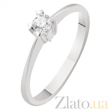 Золотое кольцо с бриллиантом Лючетта KBL--К1868/бел/брил
