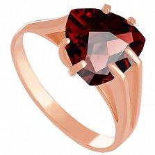 Золотое кольцо Леона с гранатом