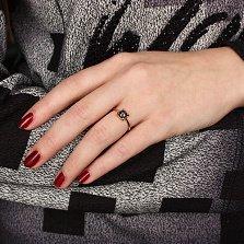 Золотое кольцо Ласковое дуновение с топазом лондон