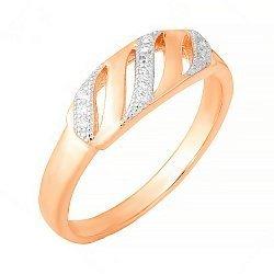 Серебряное кольцо с цирконием 000028392