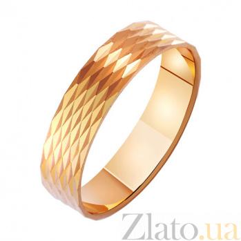 Золотое обручальное кольцо Созвездие любви с насечкой TRF--411081