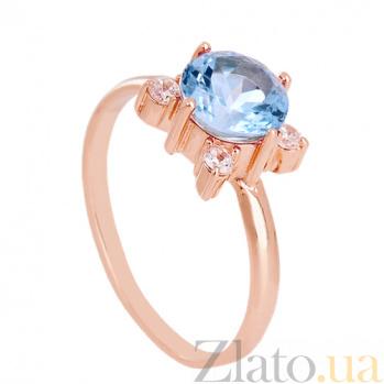 Золотое кольцо с топазом и фианитами Ванда VLN--112-1338-1
