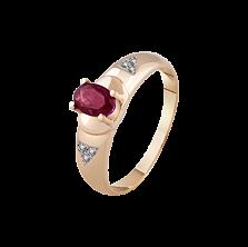 Золотое кольцо История с рубином и бриллиантами
