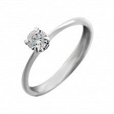 Кольцо из белого золота с бриллиантом Ирэн