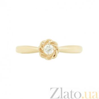 Золотое кольцо с цирконием Энни 2К220-0125