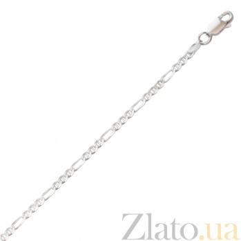 Серебряная цепочка Клерет с родированием 000027426
