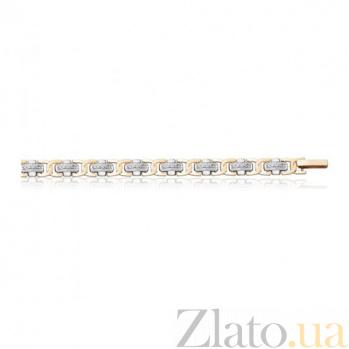 Золотой браслет с фианитами Торнаторе EDM--Б046