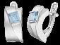 Серебряные серьги с голубыми фианитами Имидж SLX--С2ФТ1/001