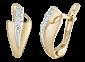 Серебряные серьги с позолотой и фианитами Эстония SLX--С3Ф/128