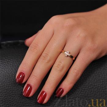 Золотое кольцо с цирконием Благодать EDM--КД0274