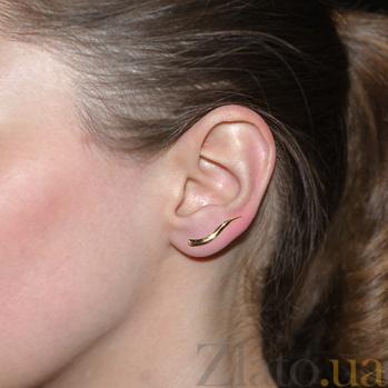 Золотая серьга-каффа Лиза в одно ухо SVA--250131710101