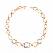 Золотой браслет Мари с кристаллами циркония