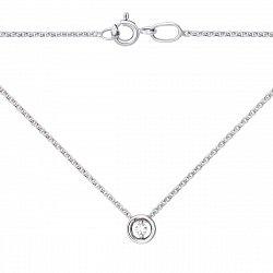 Колье в белом золоте с бриллиантом 000104229