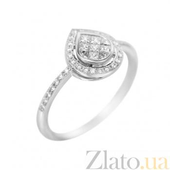 Кольцо из белого золота Льдинка с бриллиантами 000081027