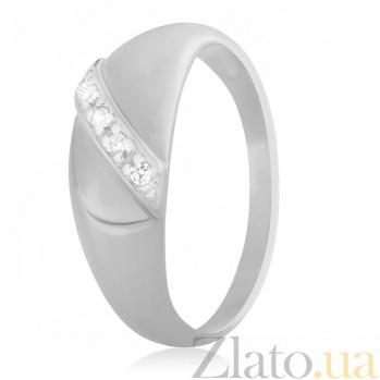 Серебряное кольцо с фианитами Айжамал 000028059