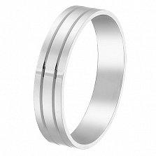 Золотое обручальное кольцо Моя верность в белом цвете, 5мм