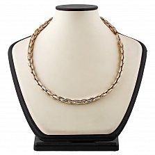Женская цепь из комбинированного золота Амазонка
