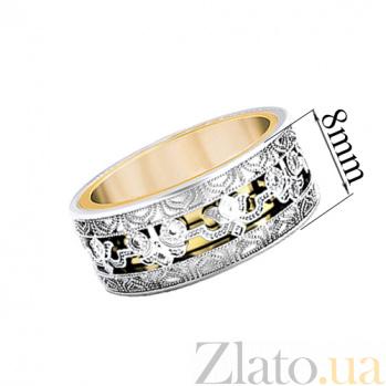 Золотое вращающееся кольцо Триумф с топазами 30318st