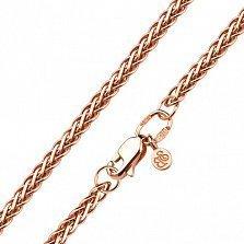 Золотой браслет Заккия в плетении косичка