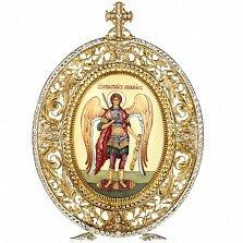 Серебряная настольная икона Архангела Михаила