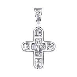 Серебряный православный крестик 000117919