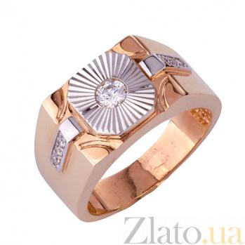 Золотое кольцо-печатка с фианитами Гариб ONX--к00930