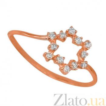 Золотое кольцо Нинель с цирконием VLT--НН1052