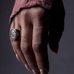 Кольцо из серебра Domna с чернением 000091396