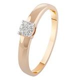 Золотое кольцо с бриллиантами Розина