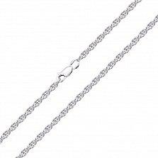 Серебряная цепочка родированная Корд, 2,5мм