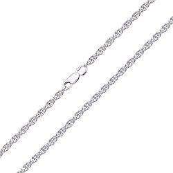 Серебряная цепочка родированная, 2,5мм 000017336