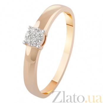 Золотое кольцо с бриллиантами Розина KBL--К1968/крас/брил