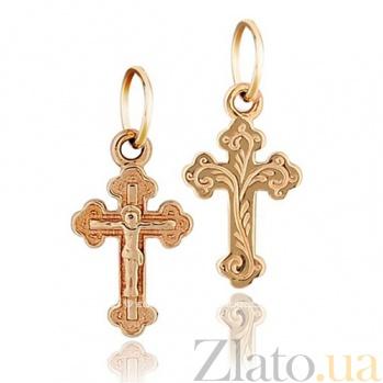 Золотой крестик с распятием Свобода EDM--КР004