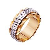 Золотое обручальное кольцо Особый шик