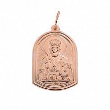 Ладанка в красном золоте Чудотворец Николай