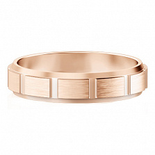 Мужское обручальное кольцо из розового золота Покорившие судьбу