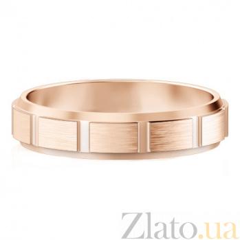 Мужское обручальное кольцо из розового золота Покорившие судьбу 427